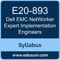 NetWorker Expert Implementation Engineers PDF, E20-893 Dumps, E20-893 PDF, NetWorker Expert Implementation Engineers VCE, E20-893 Questions PDF, Dell EMC E20-893 VCE, Dell EMC DCE-IE Dumps, Dell EMC DCE-IE PDF