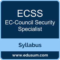 ECSS PDF, ECSS Dumps, ECSS VCE, Security Specialist Questions PDF, EC-Council Security Specialist VCE, EC-Council ECSS v9 Dumps, EC-Council ECSS v9 PDF
