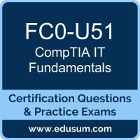 IT Fundamentals Dumps, IT Fundamentals PDF, FC0-U51 PDF, IT Fundamentals Braindumps, FC0-U51 Questions PDF, CompTIA FC0-U51 VCE
