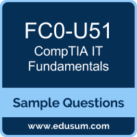 Free CompTIA IT Fundamentals (IT Fundamentals) Sample