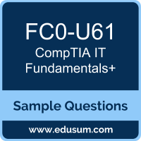 IT Fundamentals+ Dumps, FC0-U61 Dumps, FC0-U61 PDF, IT Fundamentals+ VCE, CompTIA FC0-U61 VCE, CompTIA ITF+ PDF