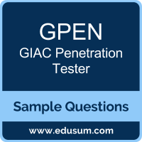 GPEN Dumps, GPEN PDF, GPEN VCE, GIAC Penetration Tester VCE, GIAC GPEN PDF
