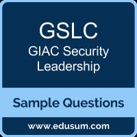 GSLC Dumps, GSLC PDF, GSLC VCE, GIAC Security Leadership VCE, GIAC GSLC PDF