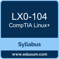 Linux+ PDF, LX0-104 Dumps, LX0-104 PDF, Linux+ VCE, LX0-104 Questions PDF, CompTIA LX0-104 VCE, CompTIA Linux Plus Dumps, CompTIA Linux Plus PDF