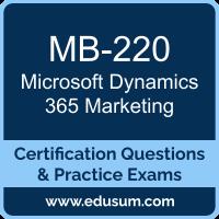 Microsoft Dynamics 365 Dumps, Microsoft Dynamics 365 PDF, MB-220 PDF, Microsoft Dynamics 365 Braindumps, MB-220 Questions PDF, Microsoft MB-220 VCE