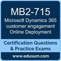 Microsoft Dynamics 365 customer engagement Online Deployment Dumps, Microsoft Dynamics 365 customer engagement Online Deployment PDF, MB2-715 PDF, Microsoft Dynamics 365 customer engagement Online Deployment Braindumps, MB2-715 Questions PDF, Microsoft MB2-715 VCE, MCSA Microsoft Dynamics 365 Dumps