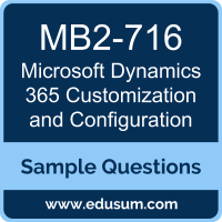 Microsoft Dynamics 365 Customization and Configuration Dumps, MB2-716 Dumps, MB2-716 PDF, Microsoft Dynamics 365 Customization and Configuration VCE, Microsoft MB2-716 VCE, Microsoft MCSA Dynamics 365 PDF
