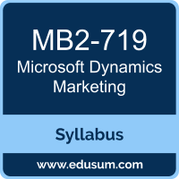 Dynamics Marketing PDF, MB2-719 Dumps, MB2-719 PDF, Dynamics Marketing VCE, MB2-719 Questions PDF, Microsoft MB2-719 VCE, Microsoft MCSE Business Applications Dumps, Microsoft MCSE Business Applications PDF