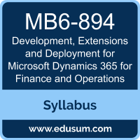Development, Extensions and Deployment for Microsoft Dynamics 365 for Finance and Operations PDF, MB6-894 Dumps, MB6-894 PDF, Development, Extensions and Deployment for Microsoft Dynamics 365 for Finance and Operations VCE, MB6-894 Questions PDF, Microsoft MB6-894 VCE, MCSA Microsoft Dynamics 365 for Operations Dumps, MCSA Microsoft Dynamics 365 for Operations PDF
