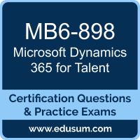 Dynamics 365 for Talent Dumps, Dynamics 365 for Talent PDF, MB6-898 PDF, Dynamics 365 for Talent Braindumps, MB6-898 Questions PDF, Microsoft MB6-898 VCE, Microsoft MCSE Business Applications Dumps