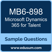 Dynamics 365 for Talent Dumps, MB6-898 Dumps, MB6-898 PDF, Dynamics 365 for Talent VCE, Microsoft MB6-898 VCE, Microsoft MCSE Business Applications PDF