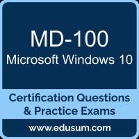 Windows 10 Dumps, Windows 10 PDF, MD-100 PDF, Windows 10 Braindumps, MD-100 Questions PDF, Microsoft MD-100 VCE
