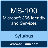 Microsoft 365 Identity and Services PDF, MS-100 Dumps, MS-100 PDF, Microsoft 365 Identity and Services VCE, MS-100 Questions PDF, Microsoft MS-100 VCE, Microsoft MCE Microsoft 365 Enterprise Administrator Dumps, Microsoft MCE Microsoft 365 Enterprise Administrator PDF