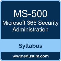 Microsoft 365 Security Administration PDF, MS-500 Dumps, MS-500 PDF, Microsoft 365 Security Administration VCE, MS-500 Questions PDF, Microsoft MS-500 VCE, Microsoft 365 Security Administration Dumps, Microsoft 365 Security Administration PDF