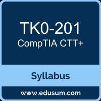 CTT+ PDF, TK0-201 Dumps, TK0-201 PDF, CTT+ VCE, TK0-201 Questions PDF, CompTIA TK0-201 VCE, CompTIA CTT Plus Dumps, CompTIA CTT Plus PDF