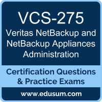 NetBackup and NetBackup Appliances Administration Dumps, NetBackup and NetBackup Appliances Administration PDF, VCS-275 PDF, NetBackup and NetBackup Appliances Administration Braindumps, VCS-275 Questions PDF, Veritas VCS-275 VCE