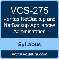 NetBackup and NetBackup Appliances Administration PDF, VCS-275 Dumps, VCS-275 PDF, NetBackup and NetBackup Appliances Administration VCE, VCS-275 Questions PDF, Veritas VCS-275 VCE
