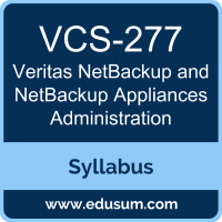NetBackup and NetBackup Appliances Administration PDF, VCS-277 Dumps, VCS-277 PDF, NetBackup and NetBackup Appliances Administration VCE, VCS-277 Questions PDF, Veritas VCS-277 VCE
