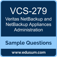 NetBackup and NetBackup Appliances Administration Dumps, VCS-279 Dumps, VCS-279 PDF, NetBackup and NetBackup Appliances Administration VCE, Veritas VCS-279 VCE