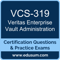 Enterprise Vault Administration Dumps, Enterprise Vault Administration PDF, VCS-319 PDF, Enterprise Vault Administration Braindumps, VCS-319 Questions PDF, Veritas VCS-319 VCE