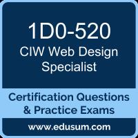 1D0-520: CIW Web Design Specialist
