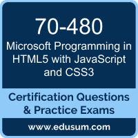 70-480: Programming in HTML5 with JavaScript and CSS3 (MCSA Web Applications)