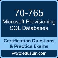 70-765: Microsoft Provisioning SQL Databases