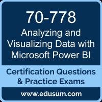 70-778: Analyzing and Visualizing Data with Microsoft Power BI (MCSA BI Reportin
