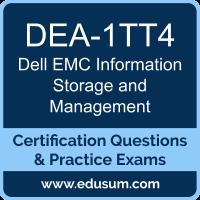 DEA-1TT4: Dell EMC Information Storage Management (DECA-ISM)
