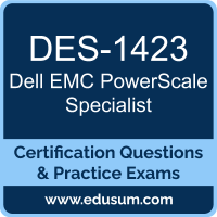 DES-1423: Dell EMC PowerScale Specialist for Implementation Engineers (DCS-IE)