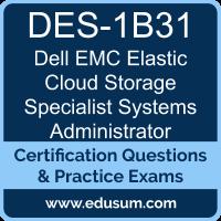 DES-1B31: Dell EMC Elastic Cloud Storage (ECS) Specialist Exam for Systems Admin
