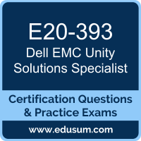E20-393: Dell EMC Unity Solutions Specialist for Implementation Engineers (DECS-