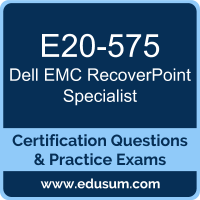 E20-575: Dell EMC RecoverPoint Specialist for Systems Administrator (DECS-SA)