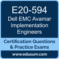 E20-594: Dell EMC Avamar Specialist for Implementation Engineers (DCS-IE)
