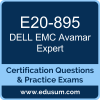 E20-895: Dell EMC Avamar Expert for Implementation Engineers (DECE-IE)