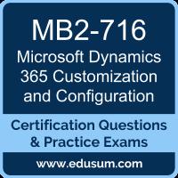 MB2-716: Microsoft Dynamics 365 Customization and Configuration