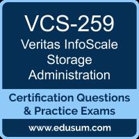 VCS-259: Administration of Veritas InfoScale Storage 7.2 for UNIX/Linux (InfoSca