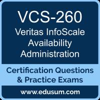 VCS-260: Administration of Veritas InfoScale Availability 7.3 for UNIX/Linux
