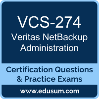 VCS-274: Administration of Veritas NetBackup 7.7 (NetBackup Administration)
