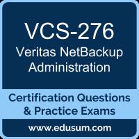 VCS-276: Administration of Veritas NetBackup 8.0 (NetBackup Administration)