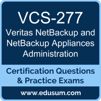 VCS-277: Administration of Veritas NetBackup 8.0 and NetBackup Appliances 3.0