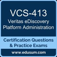 VCS-413: Administration of Veritas eDiscovery Platform 8.2 for Administrators